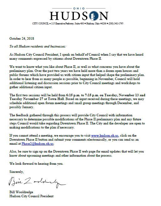 Letter from Bill Wooldredge 10-24-2018