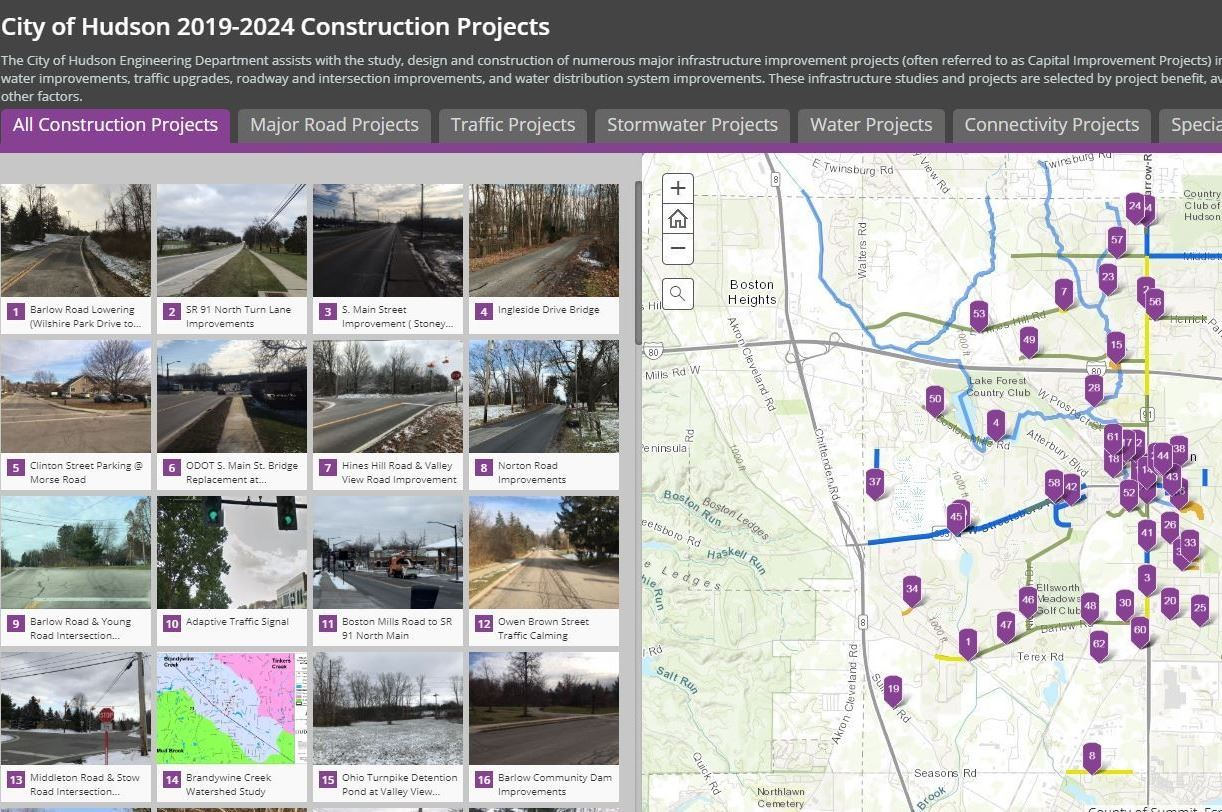 Construction Projects Interactive Map
