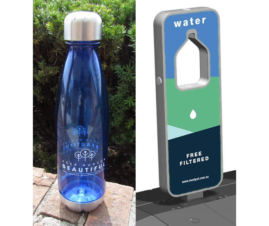 Keep Hudson Beautiful Water Bottles and Filling Station